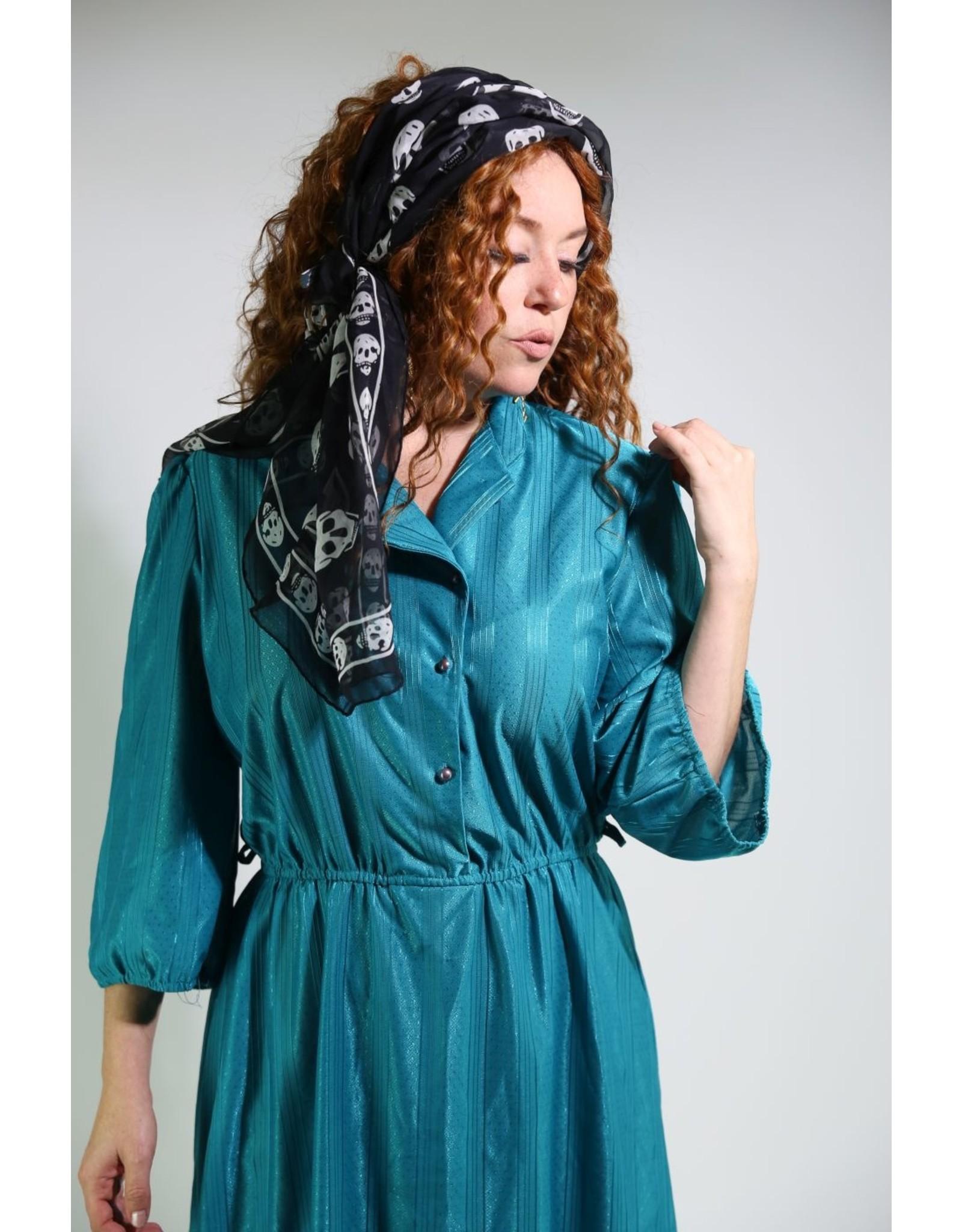 1980's Doo-Dad's Teal Dress