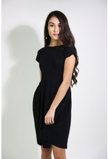 1980's Black Dress with Pleated Skirt