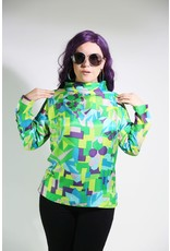 1960's Green, Purple, & Blue Long-Sleeve Top