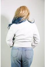 1980's White Leather Jacket