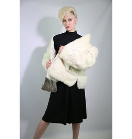 1980's White Rabbit Fur Coat
