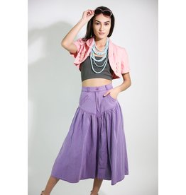 1980's Purple Midi Skirt