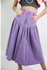 1980's Purple Midi Skirt