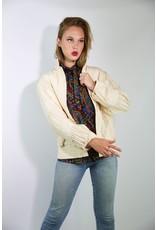 1980's EJ Harper Ivory Pin Tuck Silk Jacket