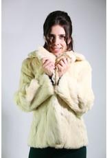 1980's Large White Rabbit Fur coat