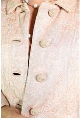 1960's Elizabeth Arden Pink & Silver Coat