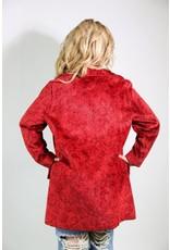 1960's Red Tapestry Carpet Coat