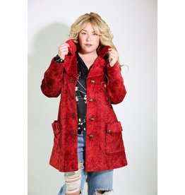 1960's Red Tapestry Carpet Coat