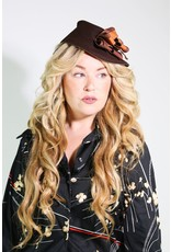 1940's Up-Cycled Brown Hat