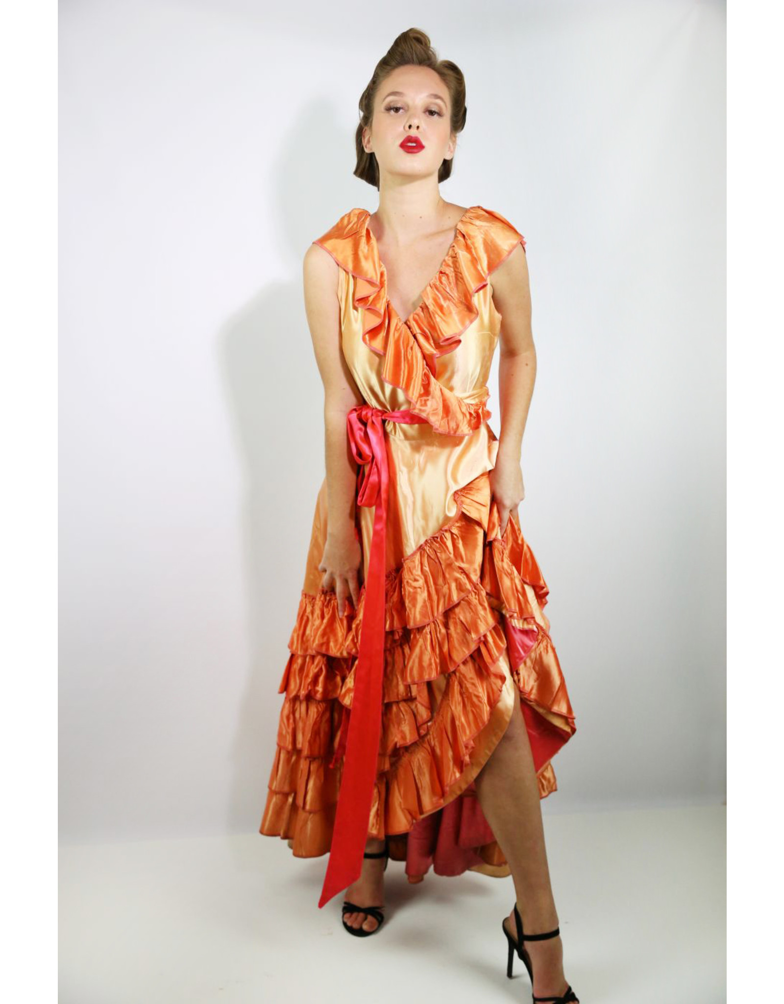 1940's Burlesque Wrap Dress Costume