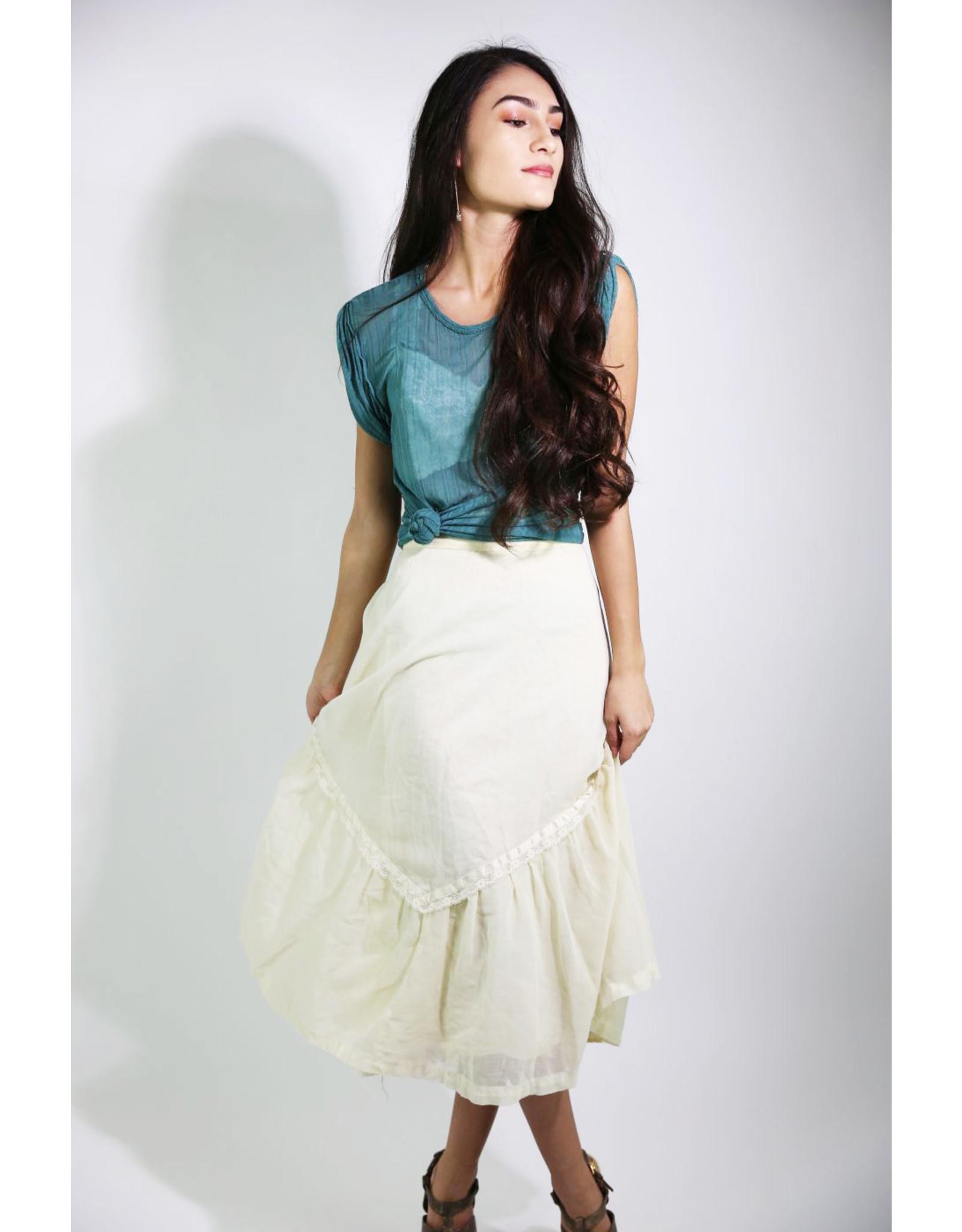 1970's Ivory Prairie Skirt