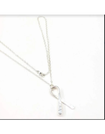 Lexi Butler Designs Sterling Silver Awareness Ribbon Necklace