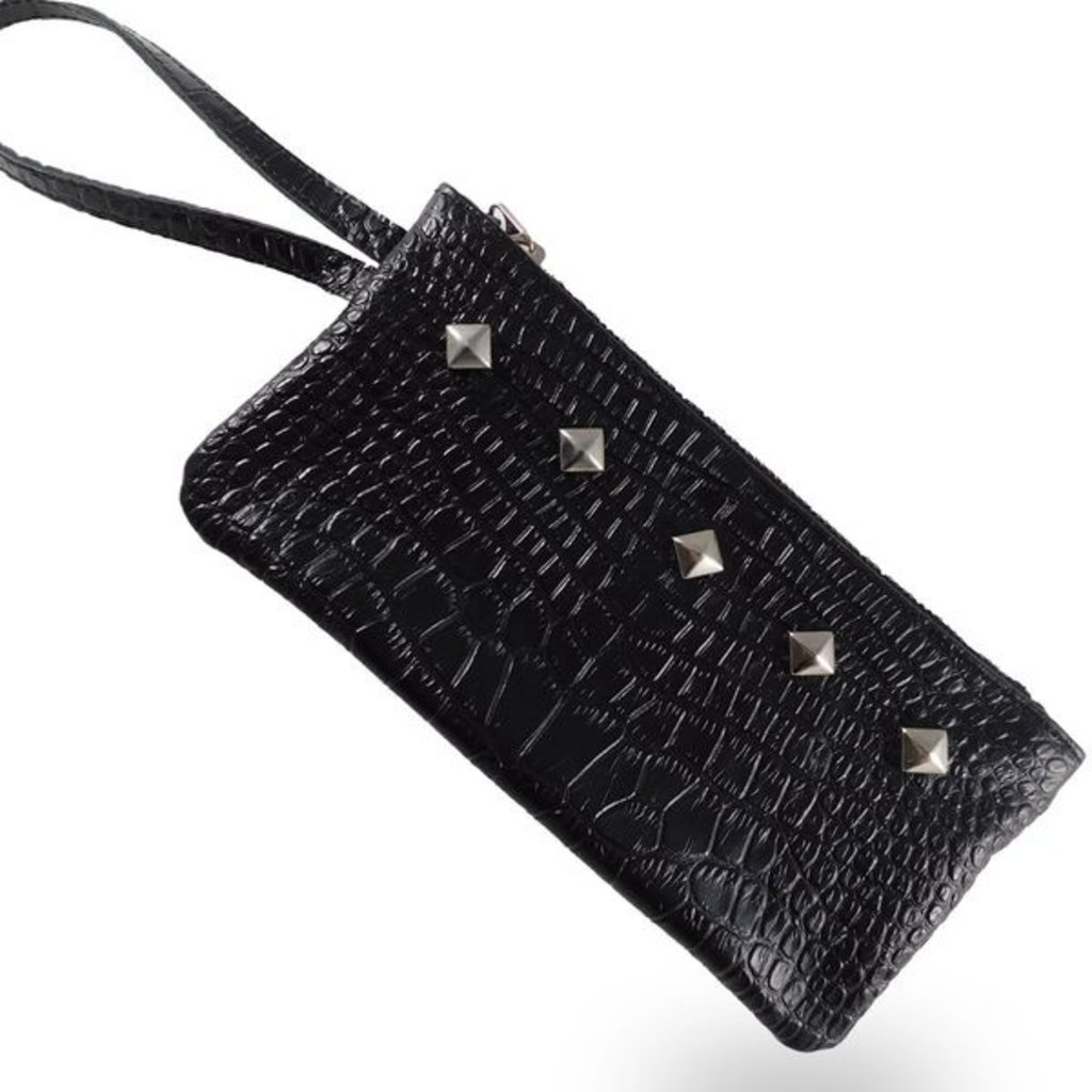 14th Rose Leather Wristlet