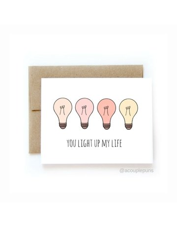 aCouple Puns Light Up My Life Card
