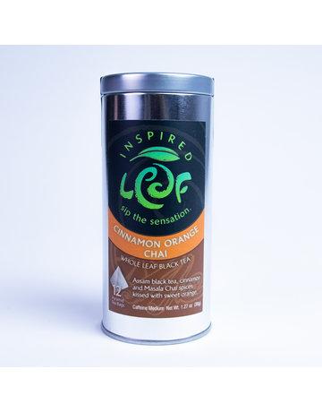 Inspired Tea Leaf Cinnamon Orange Chai - 12 Pyramid Tea Bags