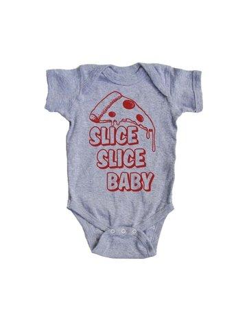 Bad Pickle Tees Slice Slice Baby Pizza Onesie