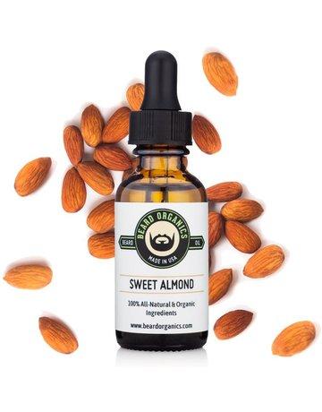 Beard Organics Sweet Almond (Fragrance Free) - 30ml Beard Oil