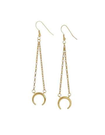 Carolyn Hearn Moon Earrings