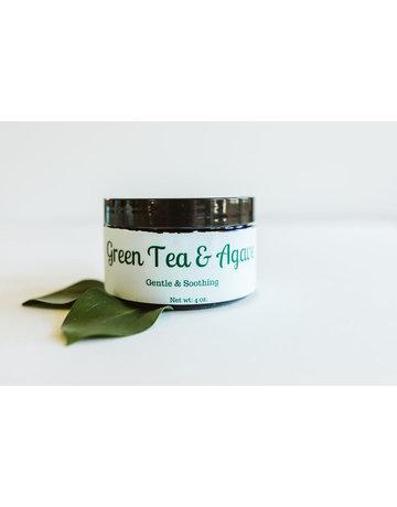 Earth Kissed Beauty Green Tea & Agave Facial Scrub - 4 oz.