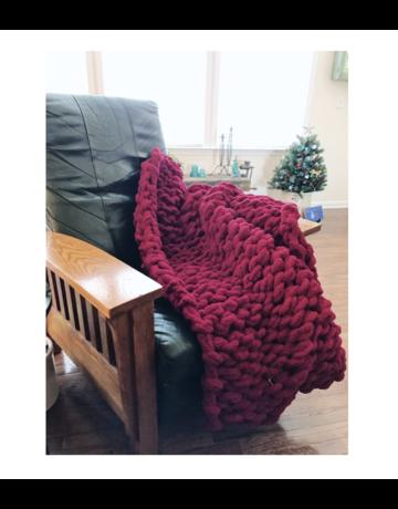 Gosh(i) Goods Cherry Red Chunky Knit Blanket