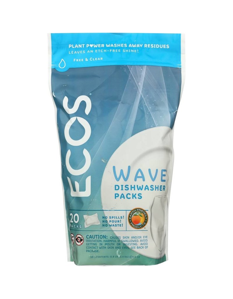 ECOS Wave Dishwasher Pods - 20 Pack