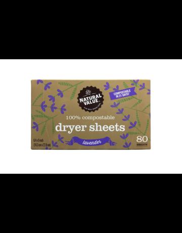 Natural Value Dryer Sheets - Lavender
