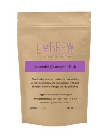Embrew Lavender Chamomile Kick Sweetened Herbal Tea Bags - 10 Bags