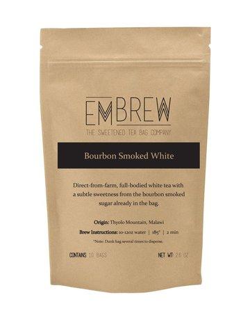 Embrew Bourbon Smoked White Sweetened Tea Bags - 10 Bags