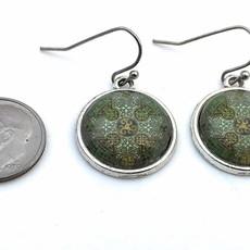Fern & Filigree Celtic Cross Earrings