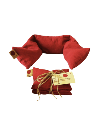 Hot Cherry Small Hot Cherry Therapeutic Neck Pillow in Red Denim