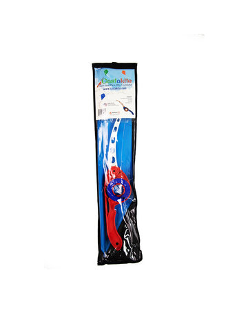 Castakite Blue Kite - Red/Blue Handle - White Cast