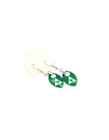 Split Infinity Nerdy Scale Earrings - Zelda (Green)