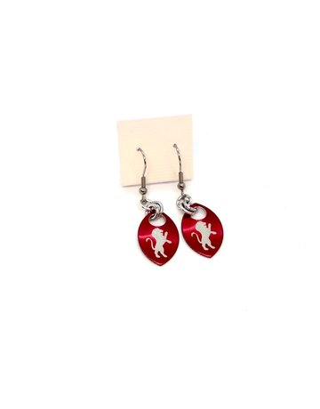Split Infinity Harry Potter Scale Earrings Red Griffindor
