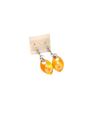 Split Infinity Star Wars Scale Earrings - Orange BB8