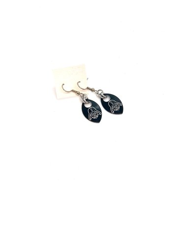 Split Infinity Star Wars Scale Earrings - Black Darth Vader