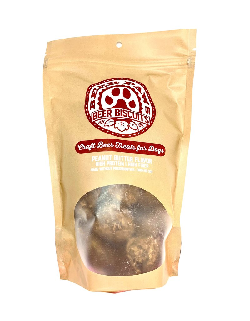 Beer Paws Peanut Butter Flavor Beer Biscuits - Craft Beer Treats for Dogs - 6 oz.