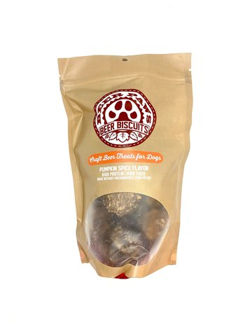 Beer Paws Pumpkin Flavor Beer Biscuits - Craft Beer Treats for Dogs - 6 oz.
