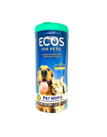 ECOS Pet Wipes with Peppermint Essential Oil - 35 Count