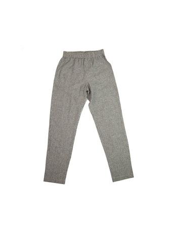 Chan + Krys Broadway Pants Gray and Pinstripe