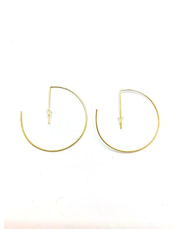 DB Designs Power Hoops - 14K Gold