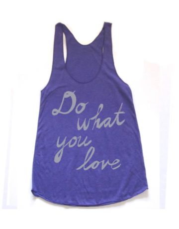 Megan Lee Designs Do What You Love - Racerback Tri-Orchid/White