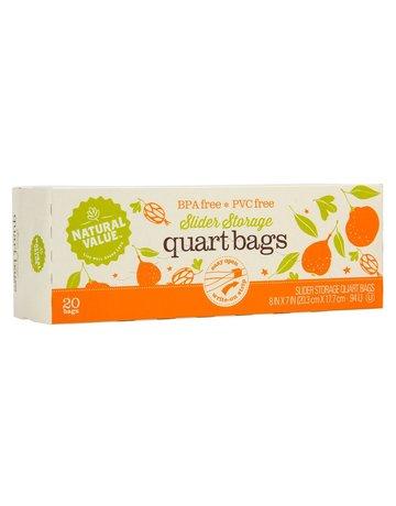 Natural Value Slider Storage Quart Bags - 20 Count