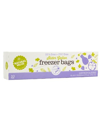 Natural Value Freezer Bags - 1 Gallon - 10 Count