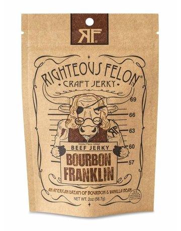 The Righteous Felon Craft Jerky Bourbon Franklin Beef Jerky - 2 oz