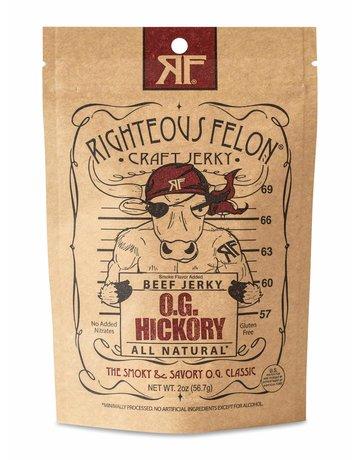 The Righteous Felon Craft Jerky OG Hickory Beef Jerky