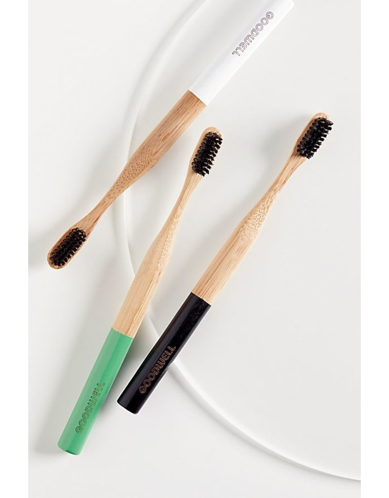 Goodwell Co. Charcoal Infused Bristles Bamboo Toothbrush
