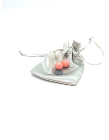 Amare Ware Abstract Collection - Pair of Swarovski Crystal Pearl Earrings - Pink
