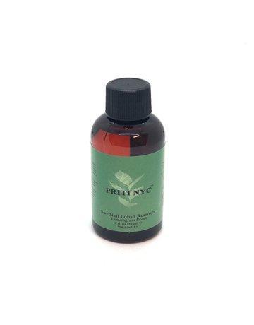Priti NYC Soy Nail Polish Remover with Organic Lemongrass Scent
