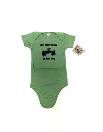 Mount Inspiration May the Forrest be with You Onesie