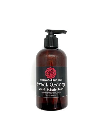 Steele Family Farm Hand and Body Wash Liquid Soap - Sweet Orange - 8 oz.